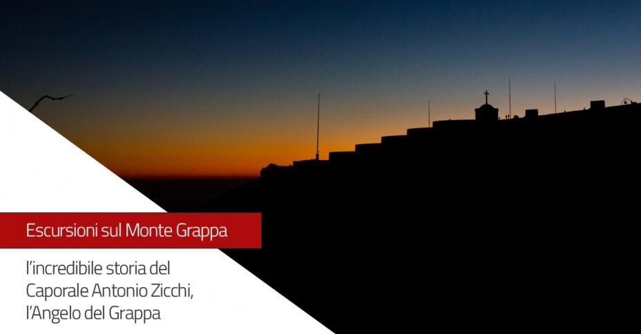 Escursione sul Monte Grappa: l'Angelo del Grappa, il caporale Antonio Zicchi