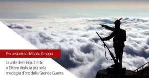 Escursione sul Monte Grappa: la valle delle Bocchette e Ettore Viola, la più bella medaglia d'oro della Grande Guerra