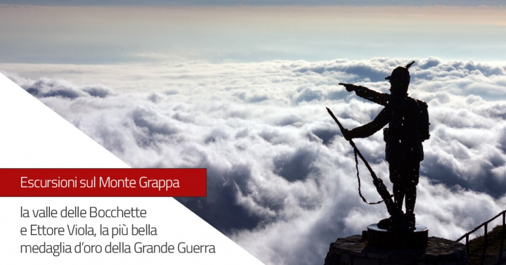 Escursione sul Monte Grappa la valle delle Bocchette e Caporale Ettore Viola